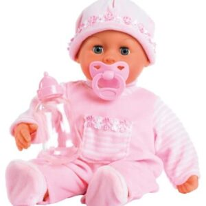 Bayer-Design-15inch-First-Words-Baby-Doll-in-Lovely-Outfit-Pink-0