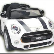 Electric-Ride-On-Toy-Car-MINI-COOPER-remote-control-White-Original-license-0-0