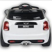 Electric-Ride-On-Toy-Car-MINI-COOPER-remote-control-White-Original-license-0-1