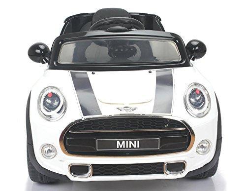 Electric-Ride-On-Toy-Car-MINI-COOPER-remote-control-White-Original-license-0