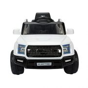 HOMCOM-Kids-Toy-Electric-Ride-on-Car-Sport-Style-2-Motors-12V-Battery-Rechargeable-Jeep-White-0-1