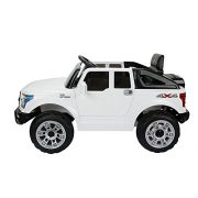 HOMCOM-Kids-Toy-Electric-Ride-on-Car-Sport-Style-2-Motors-12V-Battery-Rechargeable-Jeep-White-0-2