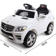 KIDS-RIDE-ON-CAR-LICENSED-MERCEDES-BENZ-ML350-ELECTRIC-CAR-6V-WITH-RC-WHITE-0-0