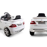 KIDS-RIDE-ON-CAR-LICENSED-MERCEDES-BENZ-ML350-ELECTRIC-CAR-6V-WITH-RC-WHITE-0-1
