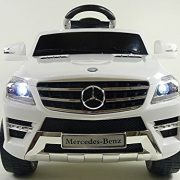 KIDS-RIDE-ON-CAR-LICENSED-MERCEDES-BENZ-ML350-ELECTRIC-CAR-6V-WITH-RC-WHITE-0-2