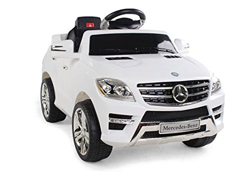 KIDS-RIDE-ON-CAR-LICENSED-MERCEDES-BENZ-ML350-ELECTRIC-CAR-6V-WITH-RC-WHITE-0