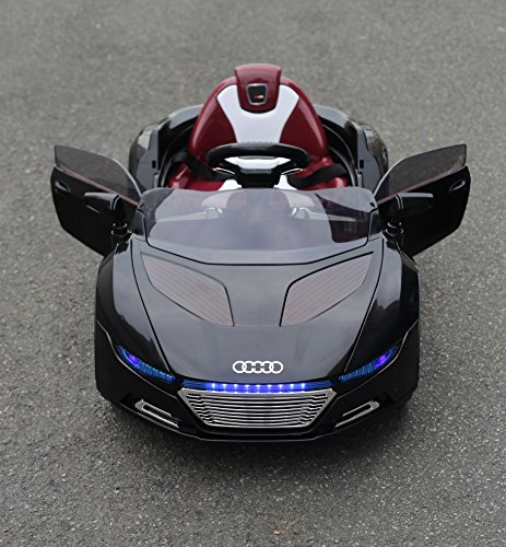 KalCo-Audi-Style-12v-Ride-On-Car-Opening-doors-Working-Lights-Unique-Exclusive-Model-2015-Model-Twin-Motor-12v-Two-Speed-With-Parental-Remote-Control-Black-12v-0