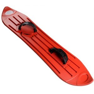 Red-Plastic-Snowboard-Fun-Snow-Winter-Sport-Sledge-Boarding-AdultChildren-8-0
