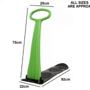 SNOW-SCOOTER-SKI-SLEDGE-FOLDABLE-SNOWBOARD-OUTDOOR-TOY-0-0