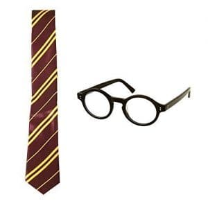 Wizard-School-Boy-Fancy-Dress-Tie-Round-Frame-Glasses-Set-0