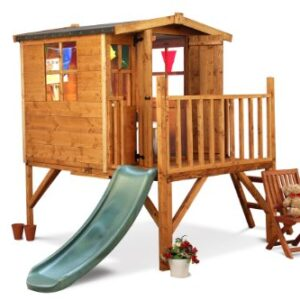 Mad-Dash-Bunny-Tower-Xtra-Childrens-Wooden-Playhouse-Including-Slide-0
