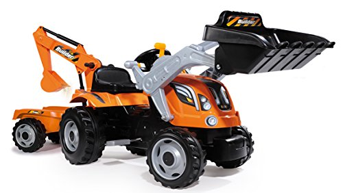 Smoby-710110-Builder-Max-Tractor-Toy-With-Trailer-0