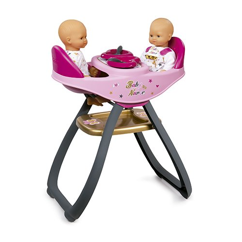 Smoby-Toys-7220315-High-Chair-Baby-Nurse-Twins-0