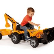 Smoby-Tractor-Builder-Tricycle-Pedal-Ride-On-0-0