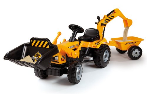 Smoby-Tractor-Builder-Tricycle-Pedal-Ride-On-0