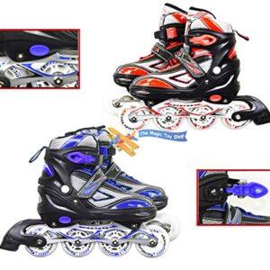 4-Wheels-Adjustable-Inline-Roller-Skates-Blades-Childrens-Adults-Kids-Boys-Girls-0