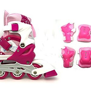 Childrens-Adjustable-Inline-Skates-Inliners-with-Complete-Protection-Set-3-Colors-to-Choose-From-0
