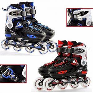 Childrens-Adults-Kids-Boys-Girls-4-Wheel-Adjustable-Inline-Skates-Roller-Blades-0