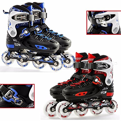 Childrens-Adults-Kids-Boys-Girls-4-Wheel-Adjustable-Inline-Skates-Roller-Blades-0