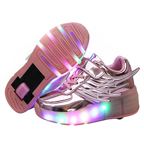 KE-Kids-Wing-Led-Light-Single-Round-Wheels-Mirror-Ultralight-Roller-Skates-Trainer-Night-Sport-Running-Shoes-For-Christmas-Halloween-Gift-0