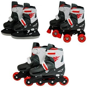SK8-Zone-Boys-Red-3in1-Roller-Blades-Inline-Quad-Skates-Adjustable-Size-Childrens-Kids-Pro-Combo-Multi-Ice-Skating-Boots-Shoes-New-0