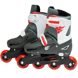 SK8-Zone-Boys-Red-Roller-Blades-Inline-Skates-Adjustable-Size-Childrens-Kids-Pro-Skating-New-0